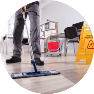 a utility cleaning the floor