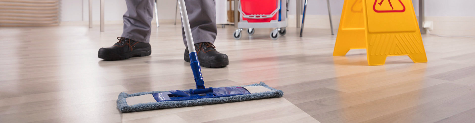 floor cleaning using a mop